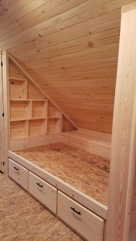 2. eingebautes Bett. – # 2nd #bed #built #cottage