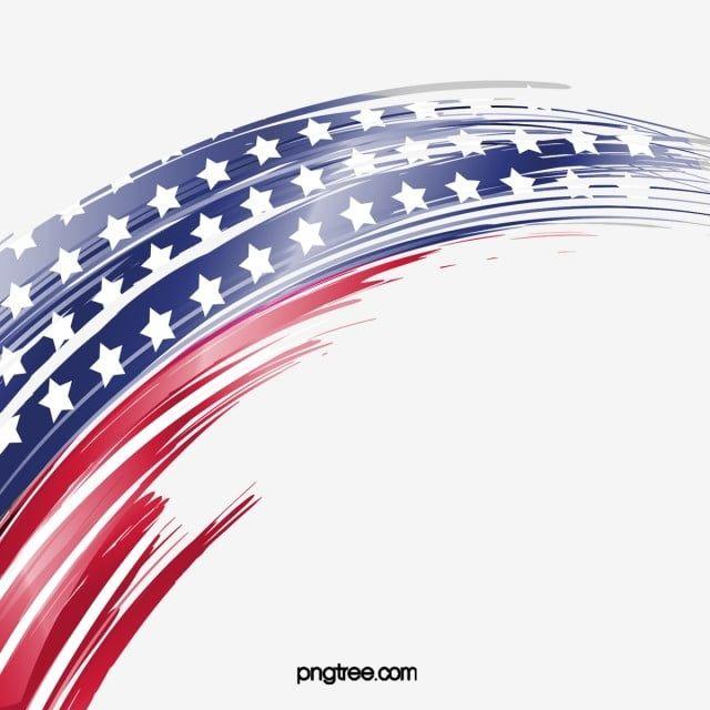 Amerika Amerika Biru Kreatif Bendera Merah Percikan Bintang Negeri Amerika Amerika Syarikat Bendera Kebangsaan Pe National Flag Country Backgrounds Framed Flag