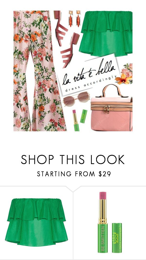 """Summer Date"" by beebeely-look ❤ liked on Polyvore featuring Alice + Olivia, Tata Harper, DANNIJO, casual, floralprint, sammydress and summerdatenight"