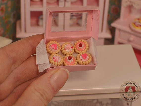 Miniature Valentine Tarts Miniature Tarts for Dollhouse 1:12
