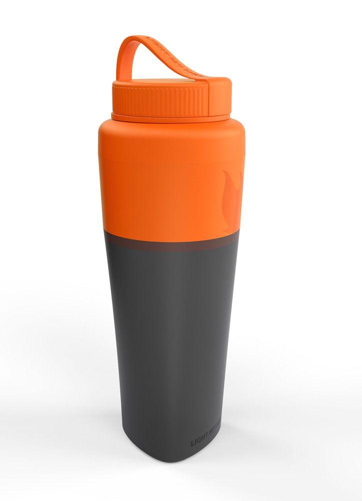 Bottle, plastic, orange