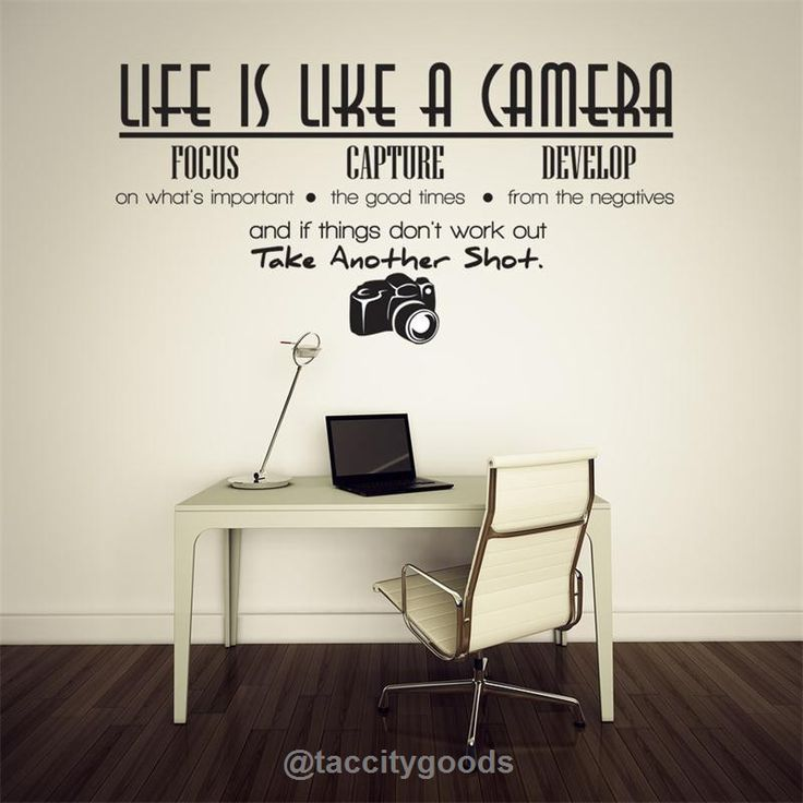 Life Is A Camera Quote Wall Stickers   Home Decor   Tac City Goods Co   Part 81