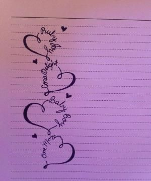 Tattoo idea! Maybe super petite with white ink. Each of my children's names. by lillian