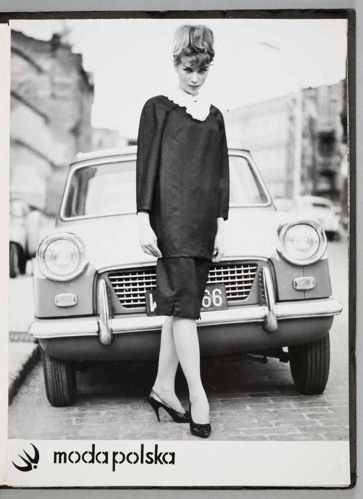 Jadwiga Grabowska, Kolekcja Mody Polskiej, lata 60., fot. Andrzej Wiernicki (?), fot. z kolekcji MNK   #PRL #Moda Polska #Polish Fashion #Magdalena Ignar