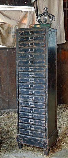 French Printers Cabinet