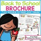 Back to School | Meet the Teacher | Open House Brochure {E