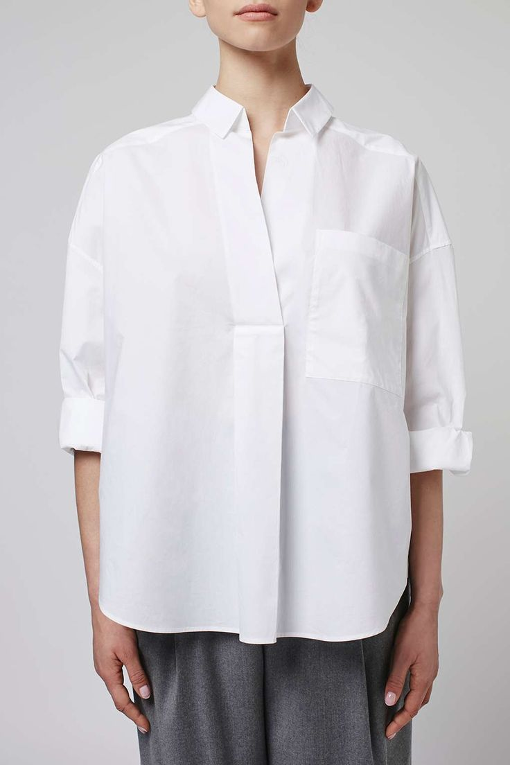 Oversized Shirt by Boutique - Tops - Clothing - Topshop