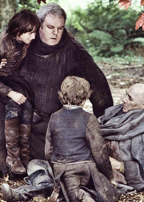 Game of Thrones 2x10 Bran, Hodor, Rickon & Maester Luwin