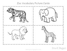 Students will take turns drawing zoo picture cards, naming the animal, and identifying the number of syllables in the animal name. Students will place their picture cards in the cage with the matching number to indicate the syllables.