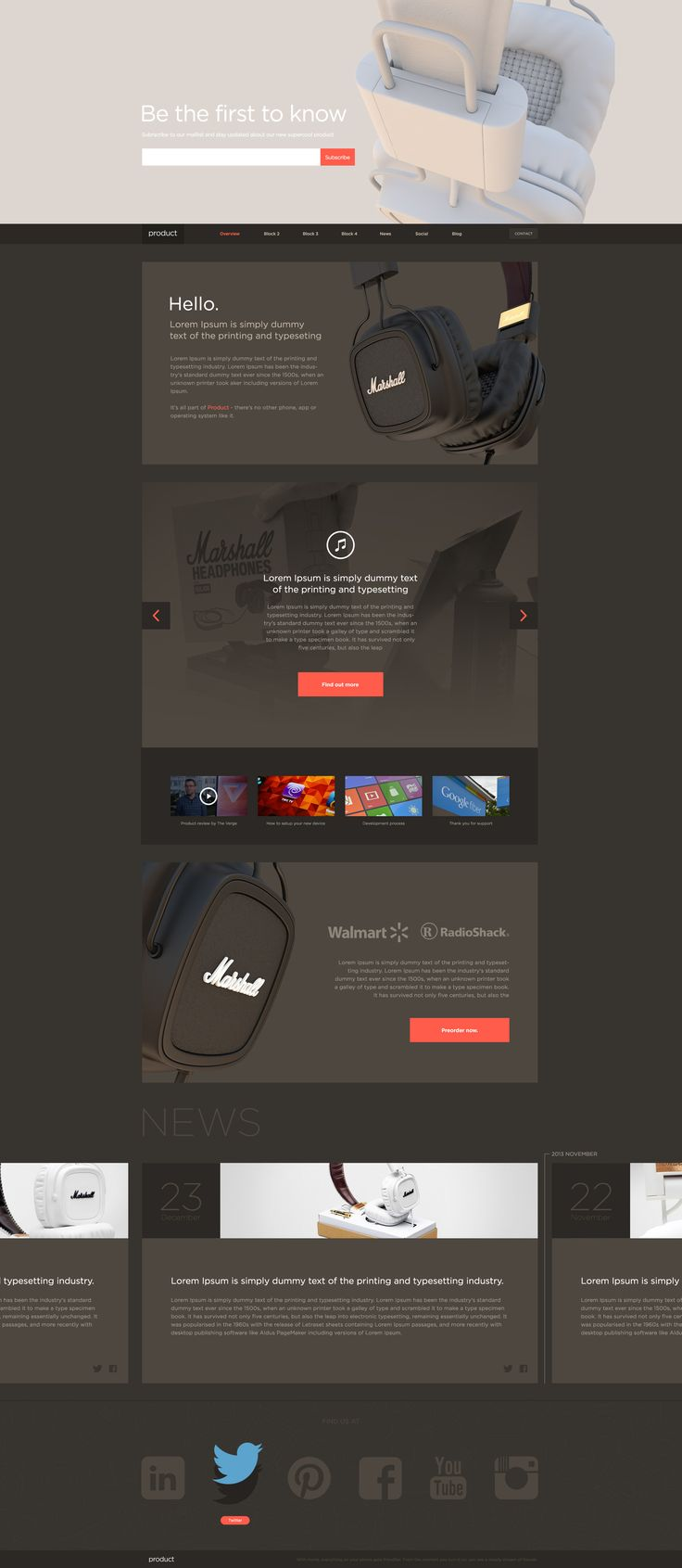 #web design, dark, clean and minimal
