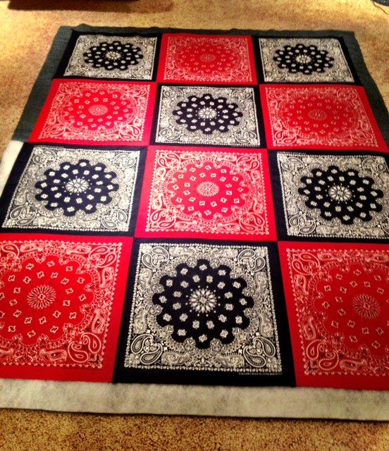 Bandana Picnic/Firework Blanket- This is Do-Able blog