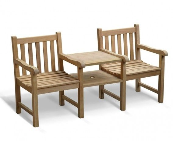 windsor vista teak garden companion seat - Wooden Garden Furniture Love Seats