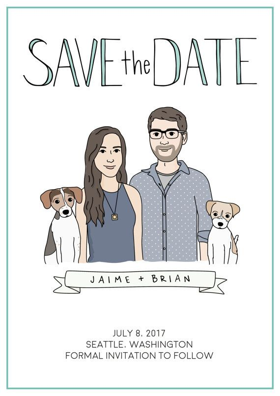 Custom Save The Date by HappyBearDesigns (Etsy) Wedding Gift, Save the Date…