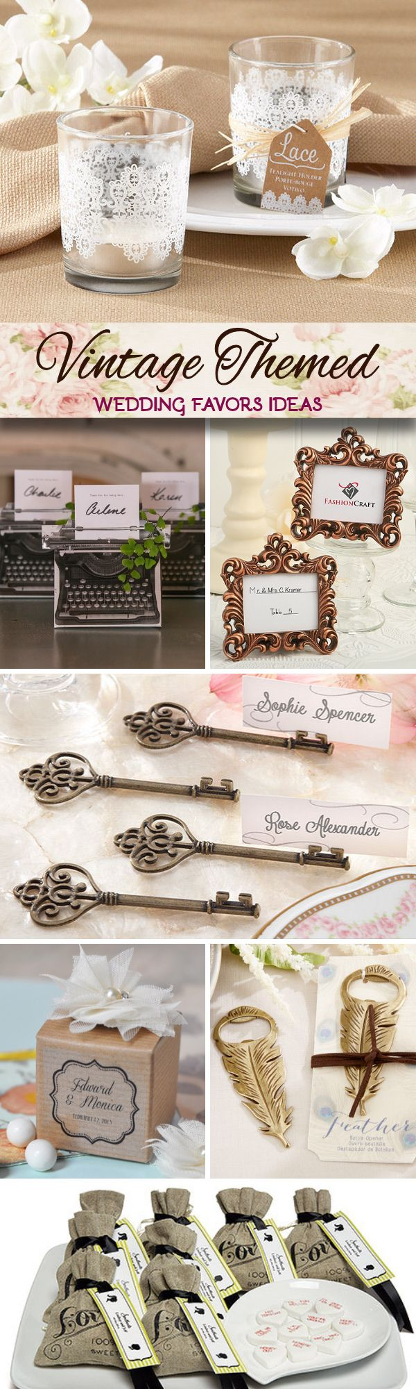 Vintage Themed Wedding Favor Ideas