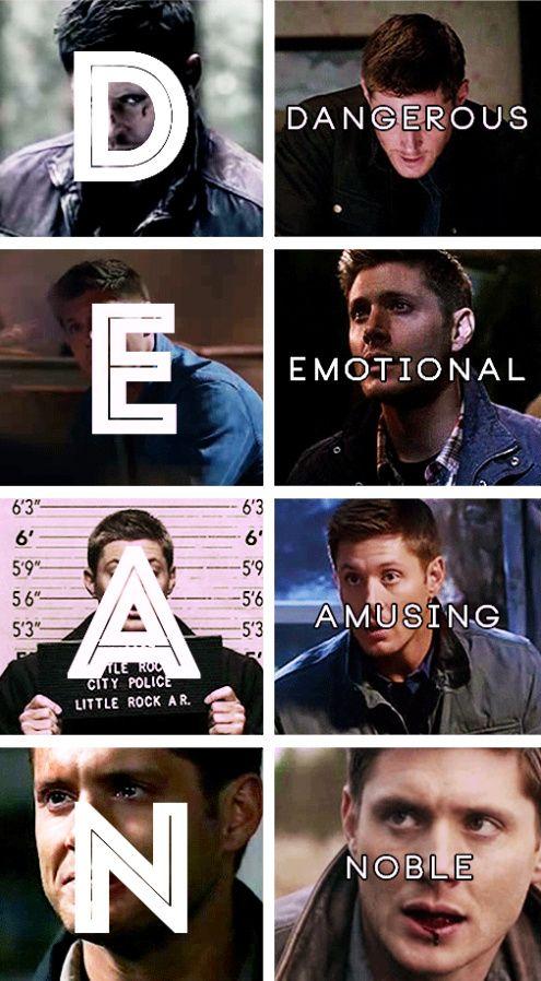 [gifset] Dean Winchester character traits #SPN #Dean
