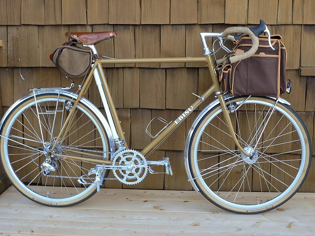 ebisu in brown with a nice frame pump mount