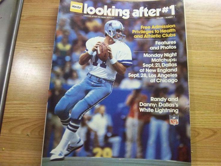 Rare Dallas Cowboys 1981 Hertz MNF Program  #DallasCowboys