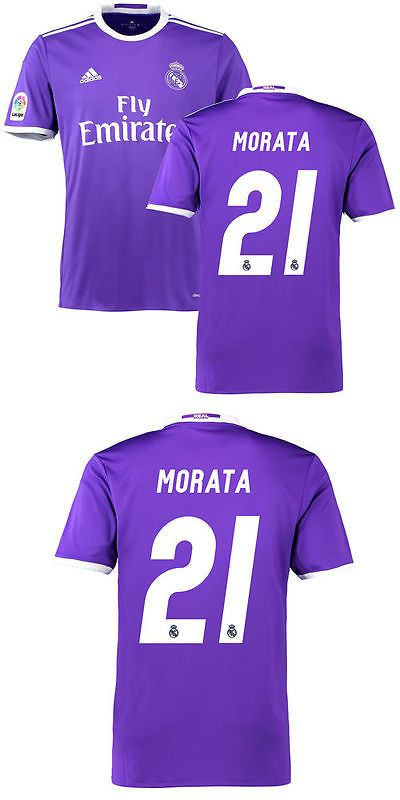 Youth 159099: Adidas Morata Real Madrid Purple 2016 17 Away Replica Jersey -> BUY IT NOW ONLY: $62.99 on eBay!