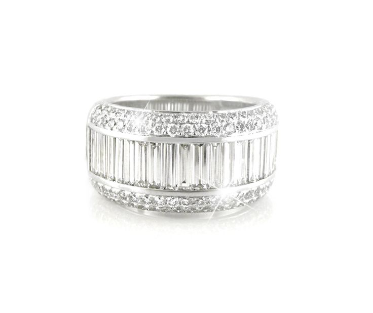 A Modern and Bold 18ct White Gold and Diamond Eternity Ring