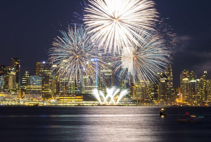 С Днем Канады! — Фейерверк на День Канады 2013 в Ванкувере