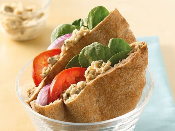 learn how to prepare Greek tuna pita sandwich. Greek tuna sandwich is totally differentthan tuna sandwich, it has unique ingredients like: yogurtinsteadof mayonnaise, feta cheese, extra virgin olive oil