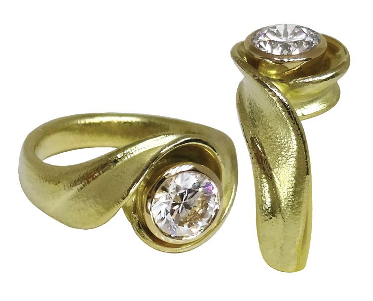 Petal Swirl Solitaire by Hanna Cook-Wallace, celebrating love opening like a flower!