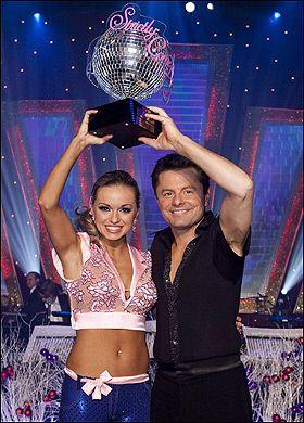 Sports Commentator Chris Hollins winner of Strictly series seven with dancing partner Ola Jordan (2009)