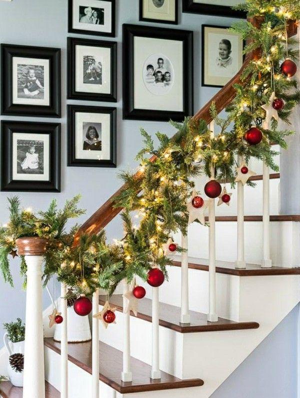 Christmas Dekorieretes stair ground