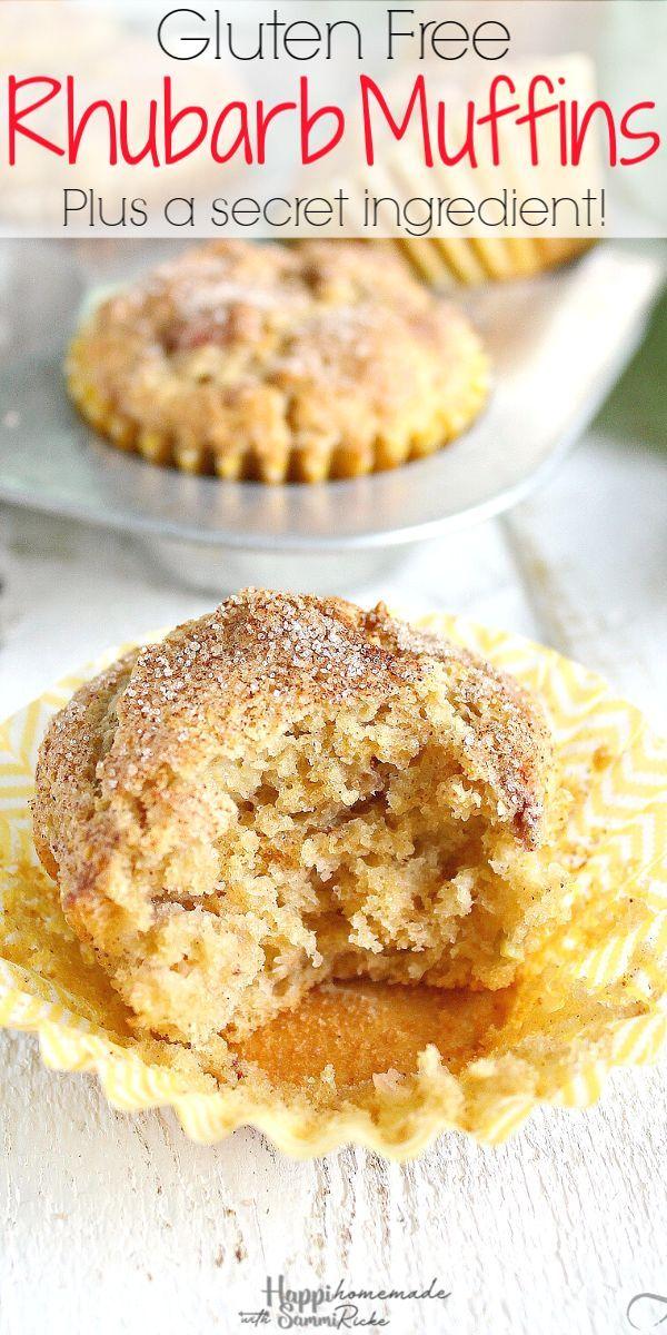 Gluten Free Rhubarb Muffins In 2020 Food Rhubarb Muffins Indulgent Food
