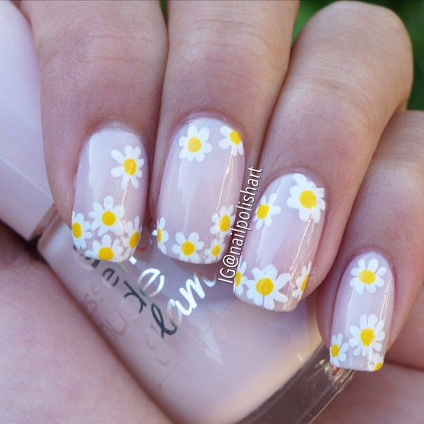Best 25 daisy nail art ideas on pinterest diy daisy nails instagram photo by nailpolishart nail nails nailart daisy nail artdaisy nailsflower prinsesfo Gallery