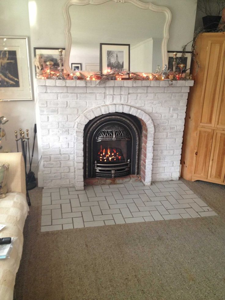 Valor 530ICN  Coal Fire Radiant Gas Fireplace and Insert Installed with Windsor Arch in