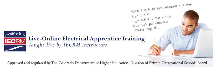 Live-Online Electrical Apprentice Program #online #electrician #schools http://south-dakota.remmont.com/live-online-electrical-apprentice-program-online-electrician-schools/  # Live-Online Electrical Apprentice Program IECRM is proud to offer a state-of-the-art, live, online training program for electrical apprentices called the Live-Online Program. an alternative to in-class training at our Denver and Ft. Collins campuses. The program, launched in 2009, is one of the first in the country…