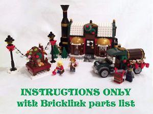 a aldea de invierno de instrucciones de fabrica de chocolate solo para ladrillos lego navidad