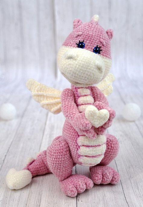 Crochet Pattern Little Dragon Etsy Poppen Haken Breien
