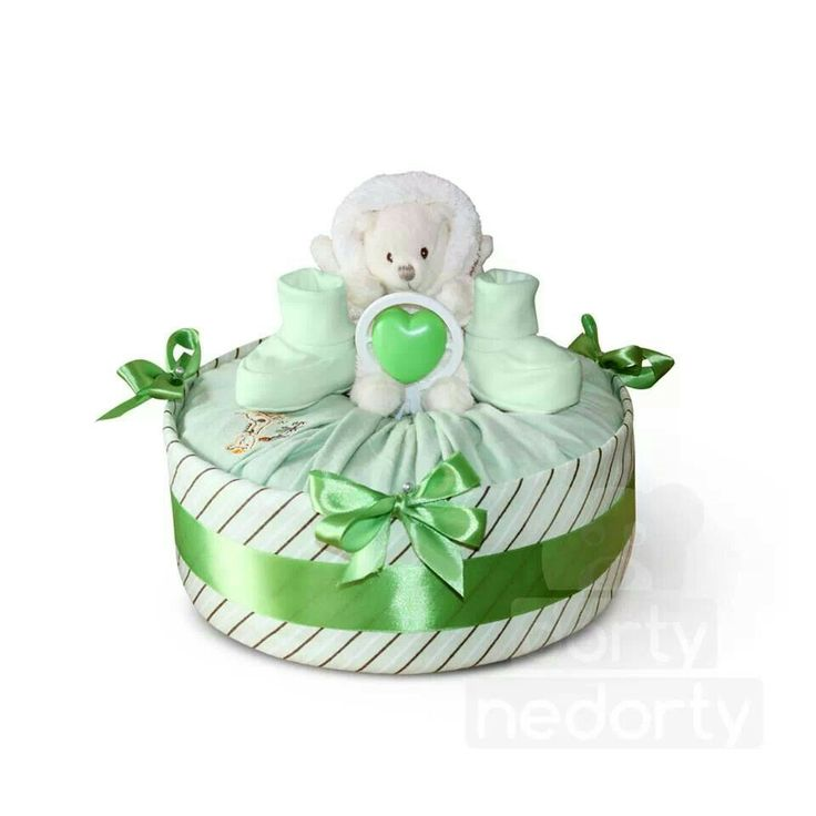 Collection S green (nappy cake)