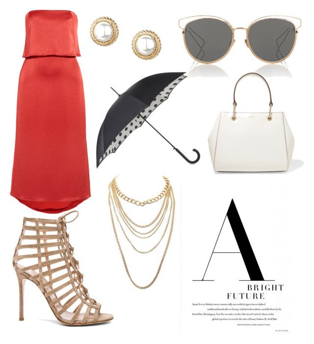 """""""A Bright Future"""" by fash10nista on Polyvore featuring Halston Heritage, Gianvito Rossi, Talbots, Christian Dior, Fulton, DKNY and Charlotte Russe"""