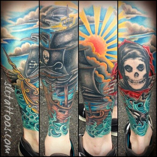 Everything but the misfits dude done by jake slc ink for Main st tattoo