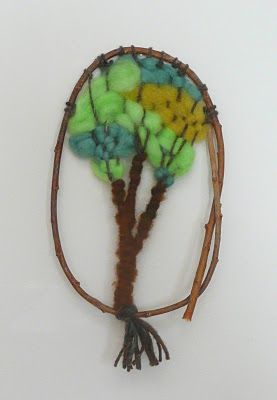 that artist woman: Woven Tree Wall Hanging. Good art extension for learning about Peru in Social Studies!