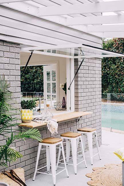 Building a pool house bar house