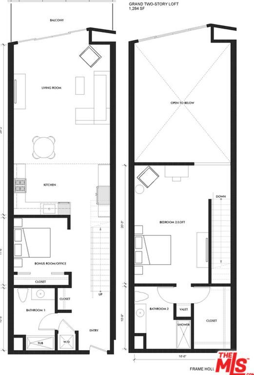 Zestimate® Home Value: $782,971. NOW LEASING - NEW TRUE MODERN LOFT + 2 BATHROOM, 1,284SF AND 19FT CEILINGS AT FRAME HOLLYWOOD. A new modern apartment building in a quiet, charmed pocket of Hollywood, close to top-rated restaurants, Hollywood nightlife, quaint streets, and shopping. This spectacular loft comes with a master loft bedroom and closet, and additional bonus room, washer & dryer, large balcony, stainless steel appliances, custom designed cabinetry and granite countertops. The b...