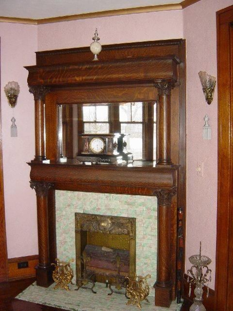 318 best fireplaces mantels screens images on pinterest for Victorian corner fireplace