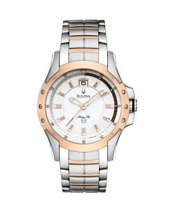 BULOVA Marine Star White/Rose gold plated (98B129)