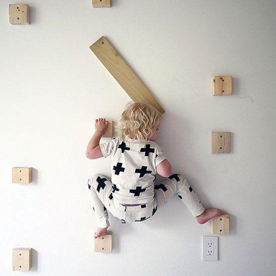 Add a rock climbing wall to your kid's bedroom with this DIY! (via Design for Mankind)