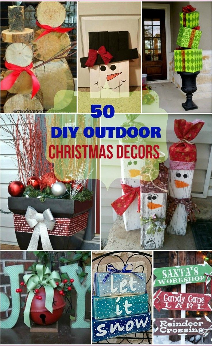 Best Diy Outdoor Christmas Decorations Ideas On Pinterest - Christmas decoration outdoor ideas