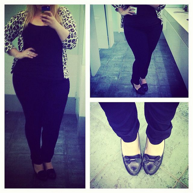 Dorothy Perkins Eden jeggings review - wearing a size 18, styled with black wittner heels & Glassons leopard print cardigan. Comfy & easy to wear, these pants are a plus size dream! #plussizefashion #plussize