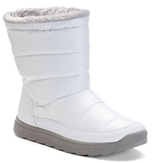 Tek Gear Hazel White Snow Boots White Women's NEW Size 9 10 Winter Puff 602 TG #ebay #trinital #whitesnowboots