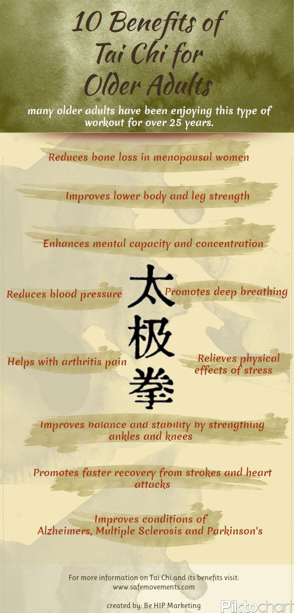 10 Benefits Of Tai Chi For Older Adults Infographic