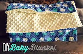 Orchard Girls: Super easy DIY Baby Blanket Tutorial (with minky and cuddle fabric)