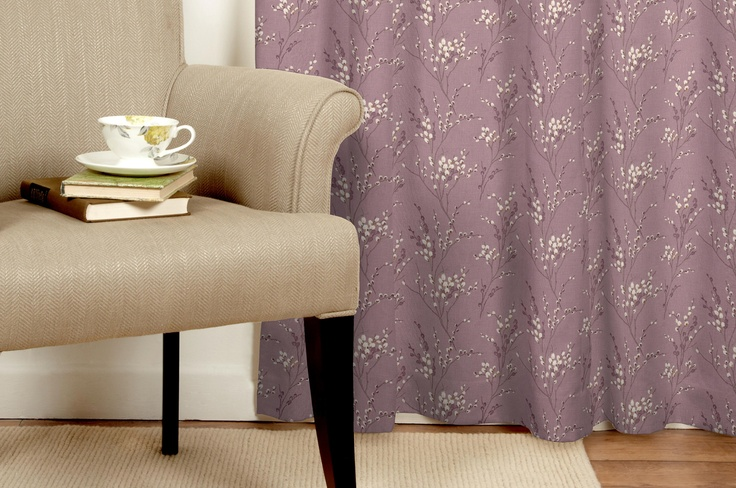 Pussy Willow Grape Curtains Made To Order Laura Ashley Bedroom - Laura ashley curtains purple