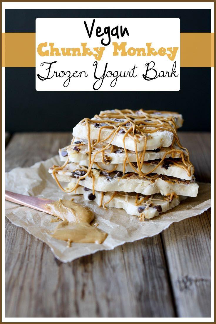 Vegan Chunky Monkey Frozen Yogurt Bark | www.veggiesdontbite.com | #vegan #plantbased #glutenfree #bananas # chocolate #walnuts #kidfood